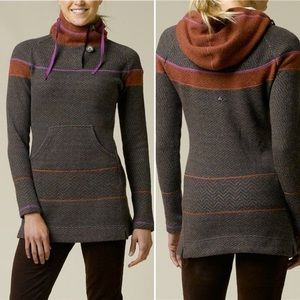 Prana Caitlyn Tunic Sweater Hooded Wool